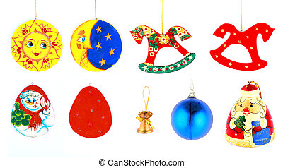 Christmas toys set for tree decoration