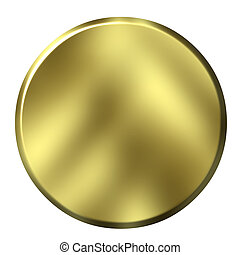 3D Golden Button