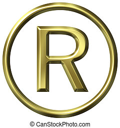 Golden Registered Symbol