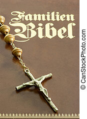 Crucifix - Close up from a bibel with crucifix
