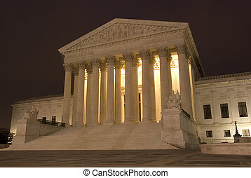 US Supreme Court at Night - The Supreme Court of the United...