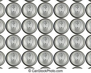 jars - Series aluminium jars on a white background