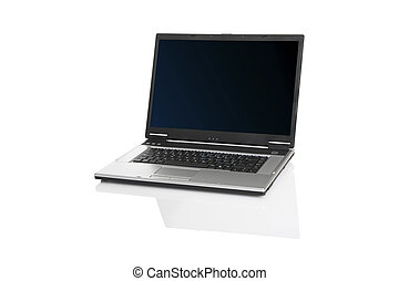 Laptop - Picture of a laptop on a white background with...