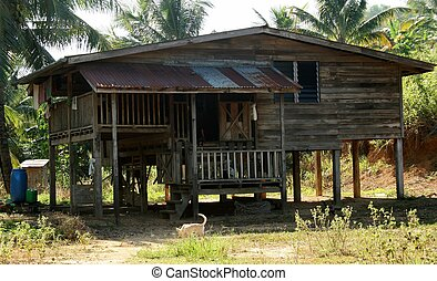 Malaysian style house - A typical Malaysian style country...