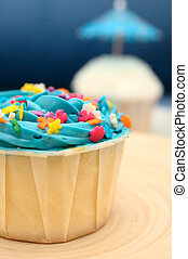 Delicious Cup Cakes - Delicious fancy cup cakes served on a...