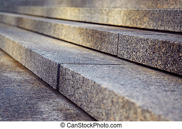 Granite stairs - Close up on granite stairs in perspective...