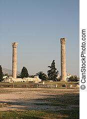 zeus temple - pilars of olympic zeus landmarks of athens...