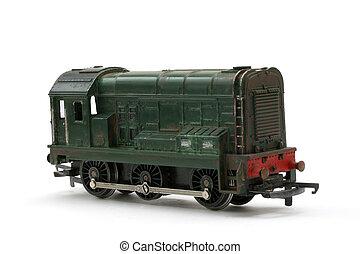juguete, modelo, Diesel, guardagujas, motor