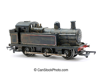 Toy model steam shunter engine - Scale model of typicasl...