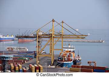 cargo ship - shipping industry cargo ship and containers at...