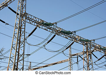electric cables - electric distribution plant detail from...