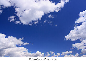 Blue sky and white clouds - Beautiful white clouds with...