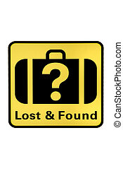 Lost and Found - an indicating sign with Lost and Found on...