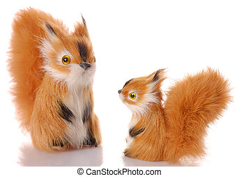 toy squirrel isolated