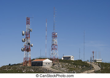 Communication Tower - Mobile phone satellite...