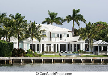 luxury residence - luxury water front house with garden and...