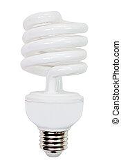 compacto, fluorescente, luz, bombilla