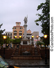 columbus park old san juan - columbus park and typical...