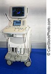 Medical ultrasonic scanner station equipment for monitoring
