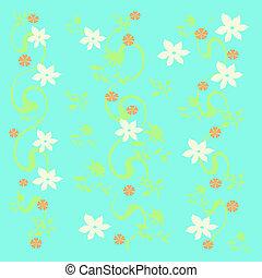 white flower vines - white flower scattered on background...