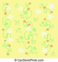 white flower vines