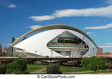 Futuristic Building - El Palau de les Arts Reina Sofia in...