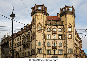 Petersburgs architectur - Classical block of flats,...
