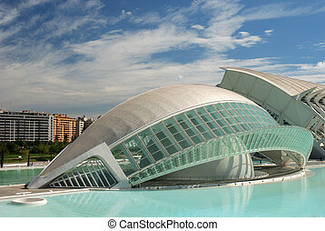 Futuristic Building - L\\\'Hemisf�ric in the City of Arts...