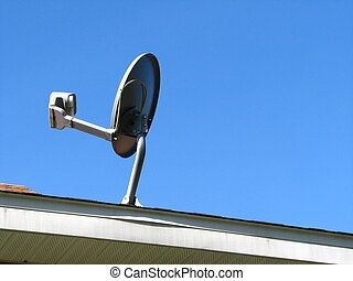 Home Satellite Dish - An image of a home satellite dish...