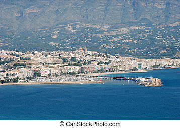 View over Altea, province of Alicante on the Costa Blanca in Spain