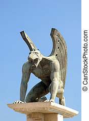 Gryphon statue in Valencia, Spain