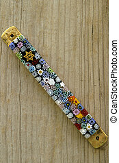 Jewish Mezuzah - A Mezuzah on an old wood door post. A...