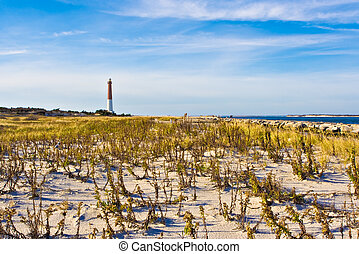 Lighthouse - Barengat Lighthouse at Long Beach Island, New...