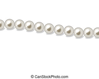 Pearls - Luxurious necklace made of natural white pearls