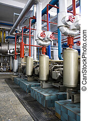 Industrial Generators - Industrial size generators in a...