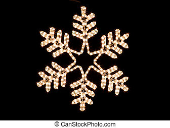 Christmas Snow Flake - Christmas snow flake decoration light...