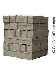 Cinder blocks - Stack of cinder blocks ( concrete masonry...