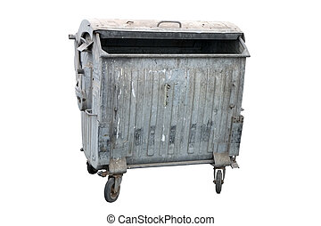 Metal garbage container