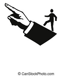 business advice - finger pointing the way to the top
