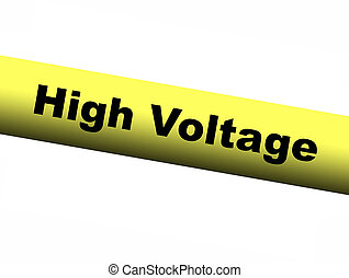 High Voltage Yellow Barrier Tape