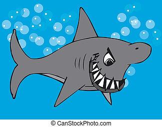 Toonimal Shark - Illustratition of an Toonimal Shark