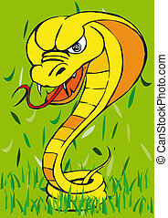 Toonimal Snake - Illustratition of an Toonimal Snake