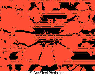 Red Petunia Flower - Illustration: clouseup of a Petunia...