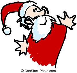 santa klaus - funny santa claus illustration