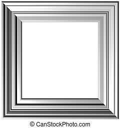 Gray Frame - Old Gold Picture Frame