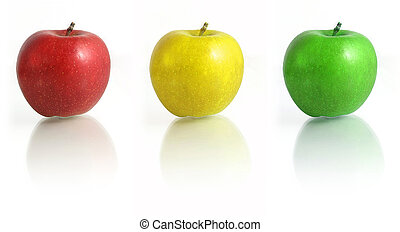 Tree Apple - Red, Yellow, Green, Semaphore,