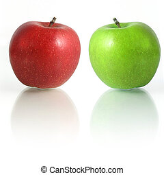 Red Green Apples - Couple of Apples