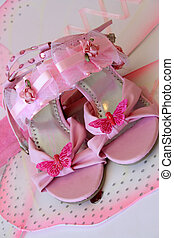 Shoes and Wings - Pink shoes and accessories in large...