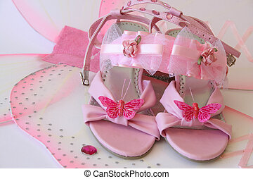 Butterfly Shoes - Pink shoes and accessories in large...