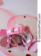 Pink Shoes - Pink shoes and accessories in large butterfly...